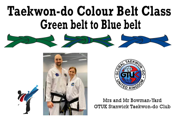 green to blue belt